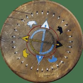 Tambour chamanique Loup Blanc Chaman