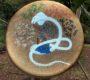 Tambour chamanique peinture Loup Blanc chaman - Chamanisme de l'Origine