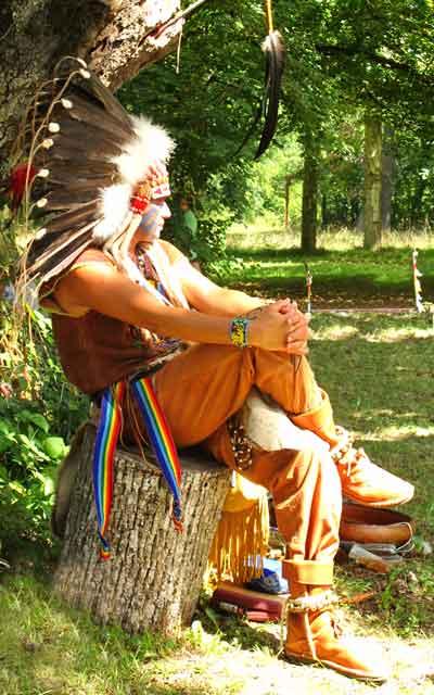 Loup Blanc Chaman - Initiation d'été 2015